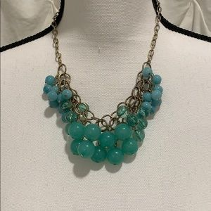 Beautiful blue green statement necklace